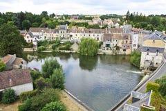 красивейшее французское село Стоковая Фотография