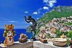 Красивейшее Positano Стоковая Фотография