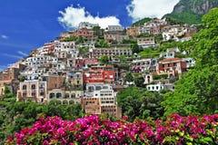 Красивейшее Positano Стоковые Изображения RF