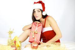 Красивейшее Santa Claus готовое для рождества Стоковые Изображения