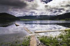 красивейшее shangri озера la Стоковое фото RF