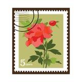 красивейшее vinatge штемпеля цветка Стоковая Фотография