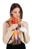 красивейшее yougn женщины чая чашки Стоковые Фотографии RF