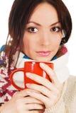 красивейшее yougn женщины чая чашки Стоковые Изображения
