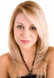 красивейшей белизна изолированная блондинкой Стоковая Фотография RF