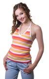 красивейшей белизна изолированная девушкой Стоковое фото RF