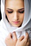 красивейшей женщина завуалированная стороной Стоковая Фотография RF