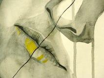 красивейшей рот проиллюстрированный девушкой бесплатная иллюстрация