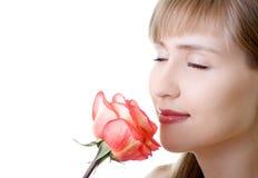 красивейше вдохните розовых детенышей женщины Стоковые Изображения