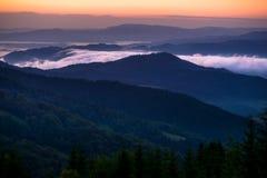 красивейше горы рассвета очень Стоковые Фото