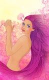 красивейше ее детеныши женщины выставок ногтей Стоковое Изображение