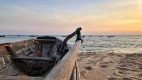 красивейше над заходом солнца моря стоковое изображение