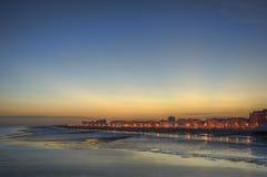 красивейше над заходом солнца пристани Стоковое Изображение