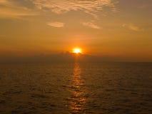 красивейше над заходом солнца моря Стоковое Фото