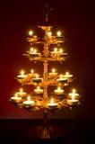 красивейше освещенный светильник Стоковое Фото