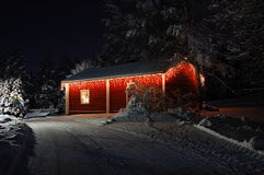красивейше рождество украсило дом Стоковое Изображение RF