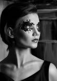 красивейше сделайте портрет вверх по женщине Стоковое Фото