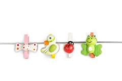 Красивейше clothespin Стоковое Изображение RF