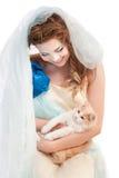 красивейше elven котенок девушки Стоковое Фото