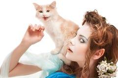 красивейше elven котенок девушки Стоковые Фотографии RF