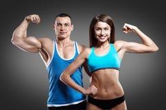Красивейшие атлетические пары Стоковые Изображения RF