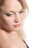 красивейшие белокурые детеныши девушки стороны Стоковое фото RF