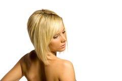 красивейшие белокурые детеныши женщины стоковые изображения