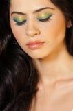 красивейшие близкие закрытые глаза поднимают женщину Стоковые Фото