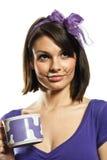 красивейшие вискеры девушки кота Стоковое Изображение