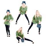 красивейшие воиска девушки одежд Стоковое Изображение