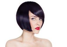Красивейшие волосы брюнет Girl.Healthy. стоковые изображения