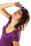 красивейшие волосы девушки гребней Стоковые Фотографии RF