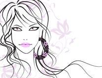 красивейшие волосы девушки длиной Стоковое Изображение
