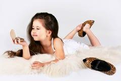красивейшие волосы девушки немногая длиной Стоковые Изображения RF
