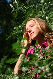 красивейшие волосы она выправляют женщину Стоковая Фотография