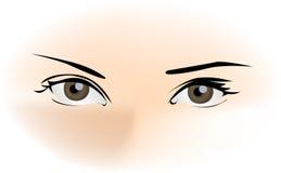 красивейшие глаза Стоковое Изображение RF