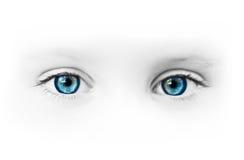 красивейшие голубые глазы Стоковое Изображение