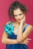 красивейшие голубые детеныши женщины стоковое фото rf
