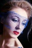 красивейшие голубые eyed женщины вуалей молодые стоковые изображения rf