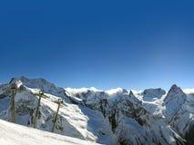 красивейшие горы caucasus высокие Стоковые Фотографии RF