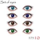 красивейшие глаза женские Стоковое Изображение RF