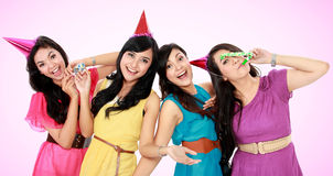 Красивейшие девушки празднуют день рождения Стоковая Фотография RF