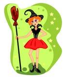 красивейшие детеныши ведьмы Стоковые Изображения