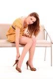 красивейшие детеныши женщины ботинок Стоковые Изображения RF