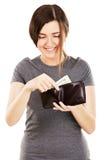 красивейшие детеныши женщины бумажника удерживания Стоковые Фото