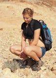 красивейшие детеныши женщины пустыни Стоковые Изображения