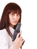 красивейшие детеныши женщины пушки Стоковое фото RF
