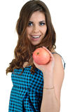 красивейшие детеныши женщины студии плодоовощ Стоковое Фото