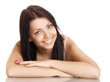 красивейшие детеныши женщины усмешки стоковое фото