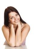 красивейшие детеныши женщины усмешки стоковое изображение